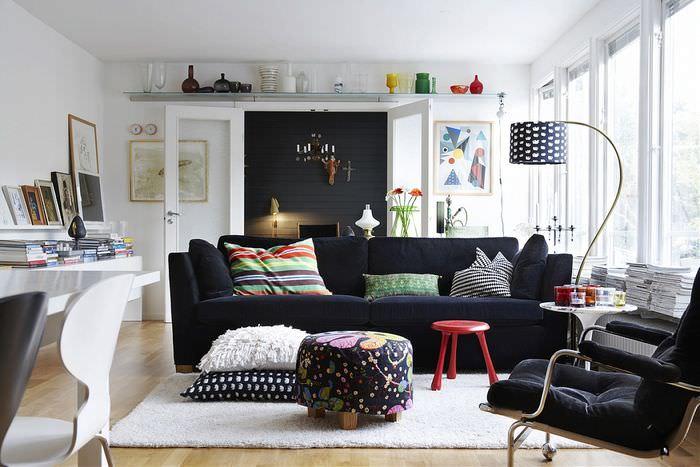 Ошибки расстановки предметов мебели в гостиной