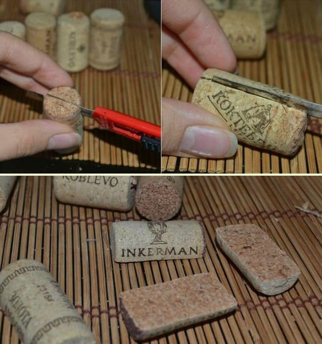 Изготовление панно из винных пробок своими руками