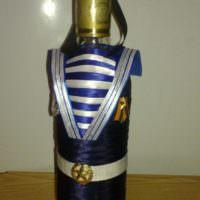 Бутылка в морском кителе в подарок