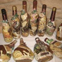 Примеры декупажа бутылок в подарок любимому мужчине
