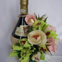 Красивый букет с алкоголем в подарок