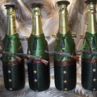 Военная тематика в оформлении подарочных бутылок
