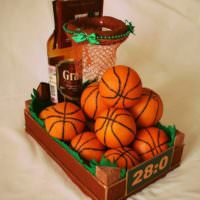 Букет в подарок мужчине-баскетболисту