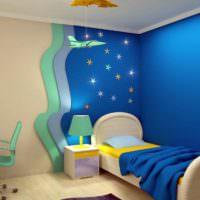 Уютное место для сна в детской комнате