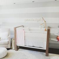 Кроватка для малыша в детской комнате