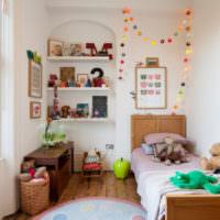 Деревянная мебель в дизайне детской комнаты