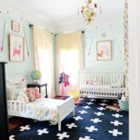 Детская комната для двоих разновозрастных детей