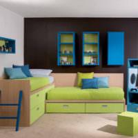 Вариант спальных мест для разновозрастных детей