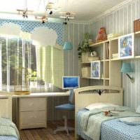 Интерьер комнаты для двух однополых детей