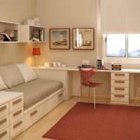 Рабочее место в комнате близнецов