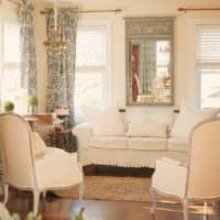 Занавески на узких гостиных окнах