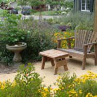 Самодельная садовая мебель из древесины