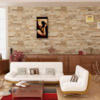 Натуральный камень в дизайне жилой комнаты
