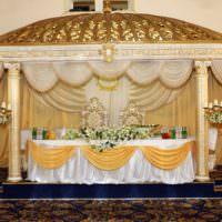Оформление свадебного стола в восточном стиле