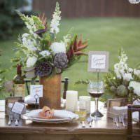 Ретро стиль в убранстве свадебного стола
