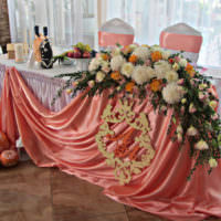 Эко-стиль в убранстве свадебного стола
