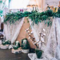 Композиции из растений для оформления свадебного стола