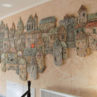 Рельефное панно в интерьере жилого дома