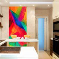 Панно в стиле авангарда на стене кухни