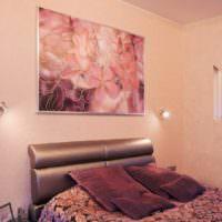 Панно-картина в дизайне спальни