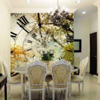 Декоративное панно в форме громадных часов своими руками