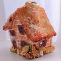 Сказочный домик из папье-маше
