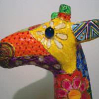 Голова жирафа из папье-маше