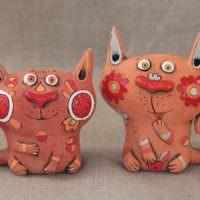 Фигурки из папье-маше для оформления интрьера