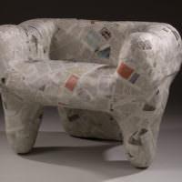 Декоративное кресло из папье-маше своими руками