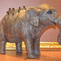 Статуэтка слоника из папье-маше своими руками