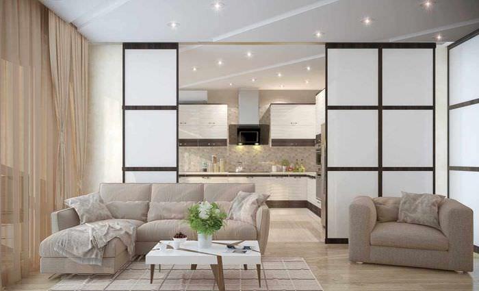 идея применения перегородки в дизайне квартиры