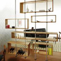 пример использования перегородки в интерьере комнаты картинка