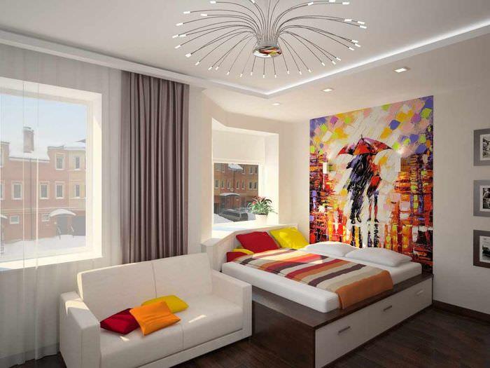 пример необычного дизайна детской комнаты для девочки