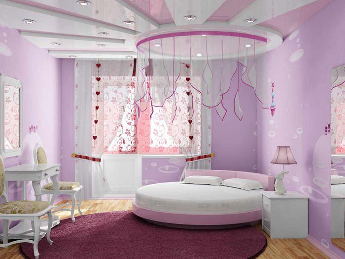 вариант яркого дизайна спальни
