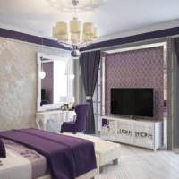 пример необычного стиля спальной комнаты картинка