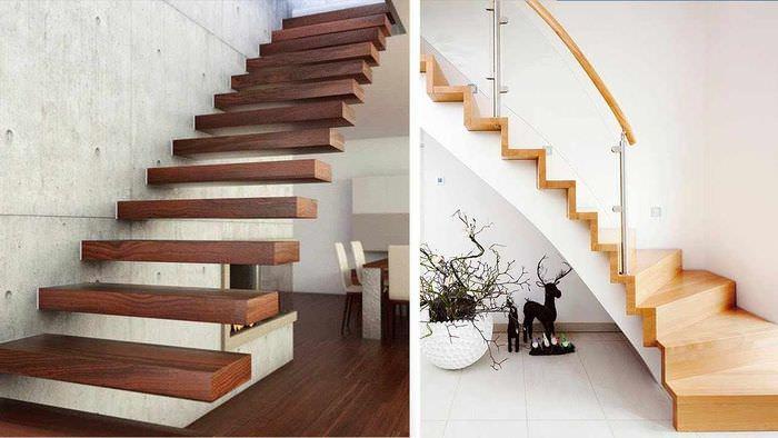 пример необычного интерьера лестницы в честном доме