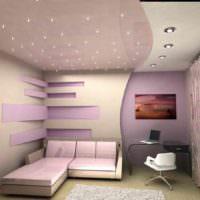идея красивого украшения стиля стен в спальне фото