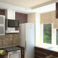 вариант светлого проекта интерьера кухни картинка
