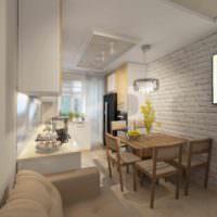 вариант красивого проекта дизайна кухни фото