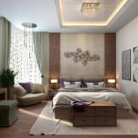 пример красивого проекта стиля спальни фото
