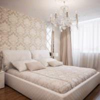 вариант яркого проекта интерьера спальной комнаты картинка