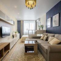 вариант светлого проекта дизайна спальной комнаты картинка