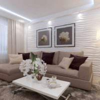 пример светлого дизайна гостиной 20 метров картинка