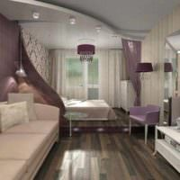 вариант светлого дизайна спальни 20 метров фото