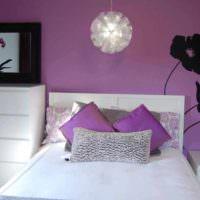 вариант необычного интерьера спальной комнаты картинка