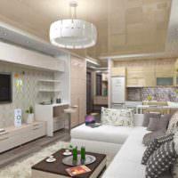 вариант красивого дизайна гостиной 20 метров картинка