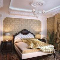 идея необычного украшения стиля стен в спальне картинка