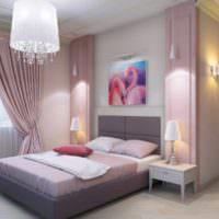пример необычного проекта интерьера спальни фото