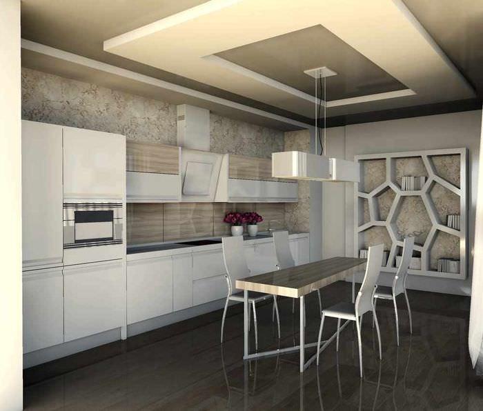 пример необычного проекта интерьера кухни