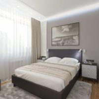 пример необычного проекта стиля спальной комнаты картинка